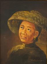 Tom Wong Chinese Oil Painting on Canvas