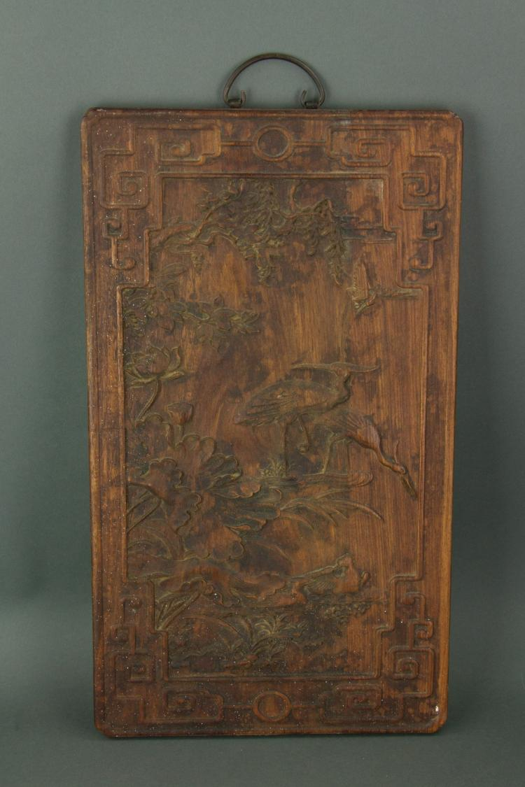 Chinese Wood Carved Panel