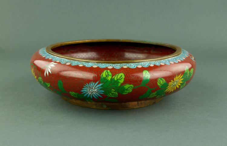 Chinese Bronze Cloisonne Waterpot Tongzhi Mk
