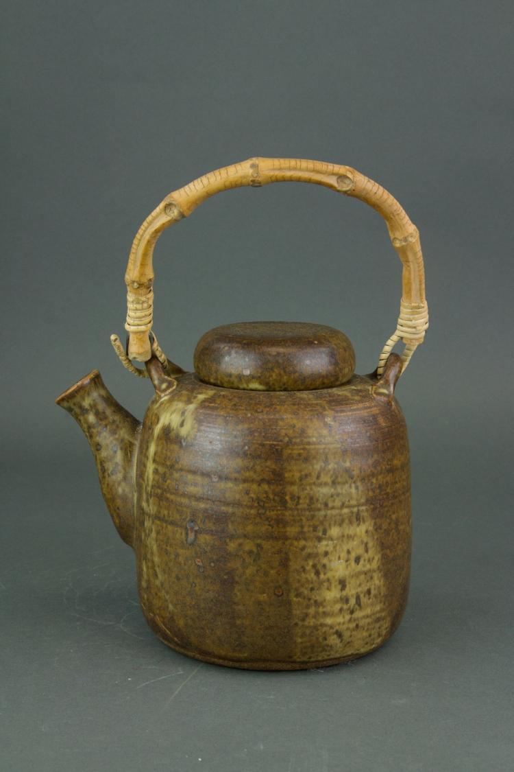 Japanese Fine Stoneware Teapot Signed Vice Steven'
