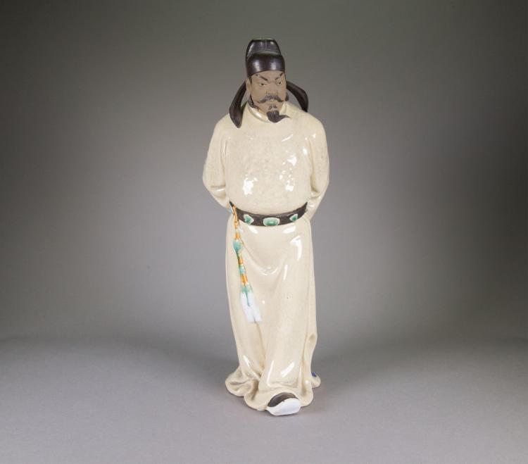 Chinese Pottery Figure w/Cert Zhuang Jia 1931-2006