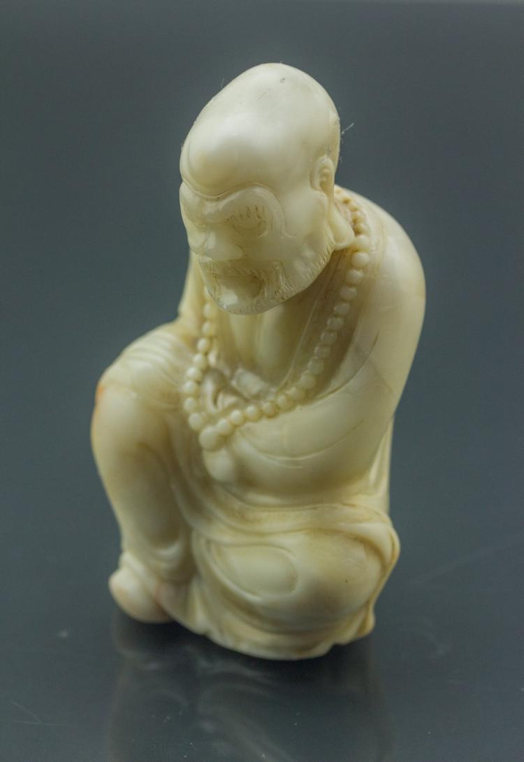 Fine 18th C. Chinese Shoushan Stone Carved Figure