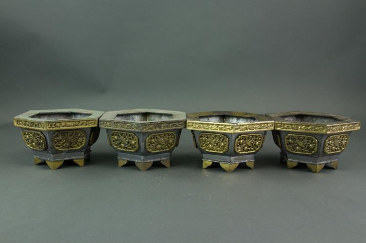 4 Pc Tibetan Metal Censers