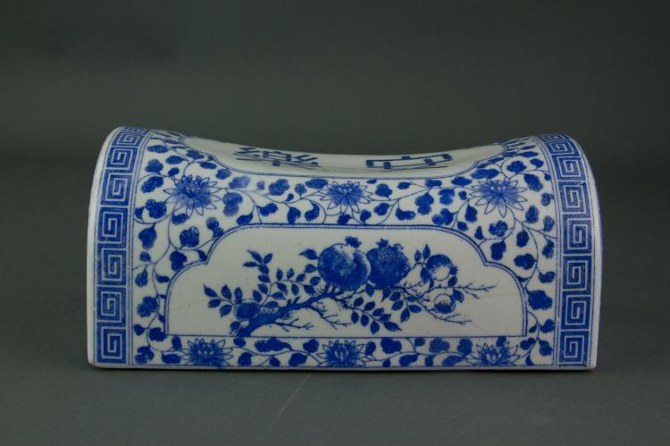 Chinese Blue and White Porcelain Pillow