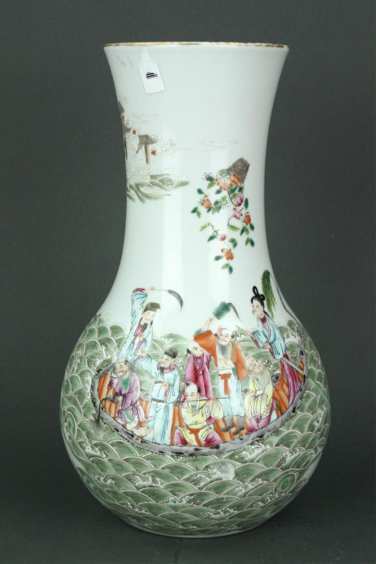 Chinese Famille Rose Porcelain Vase Jiaqing MK