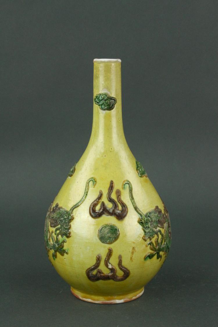 Chinese Famille Verte Porcelain Vase Yongzheng MK