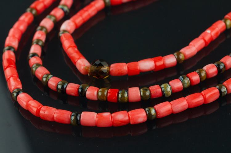 3 Pc Chinese Coral Necklaces