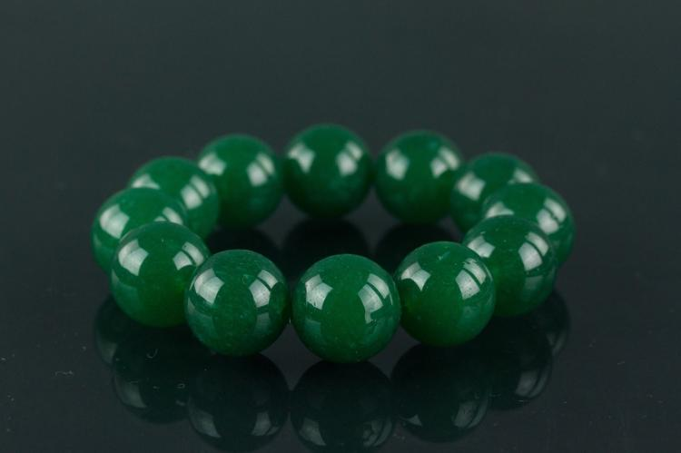 Chinese Green Hardstone Bracelet
