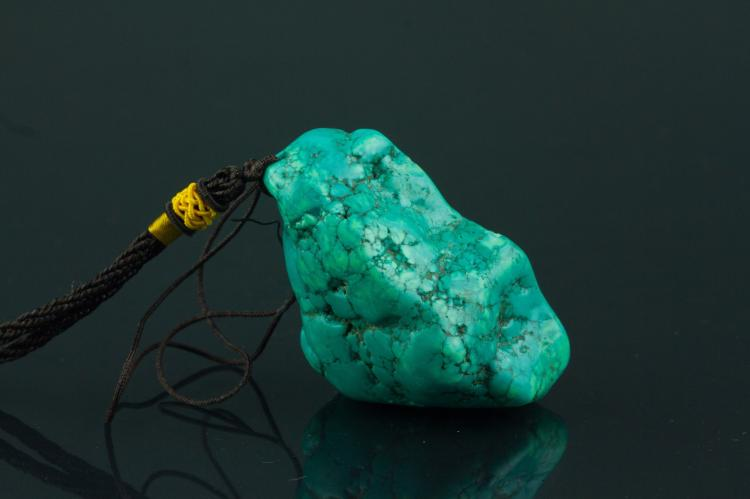 Chinese Natural Turquoise Pendant