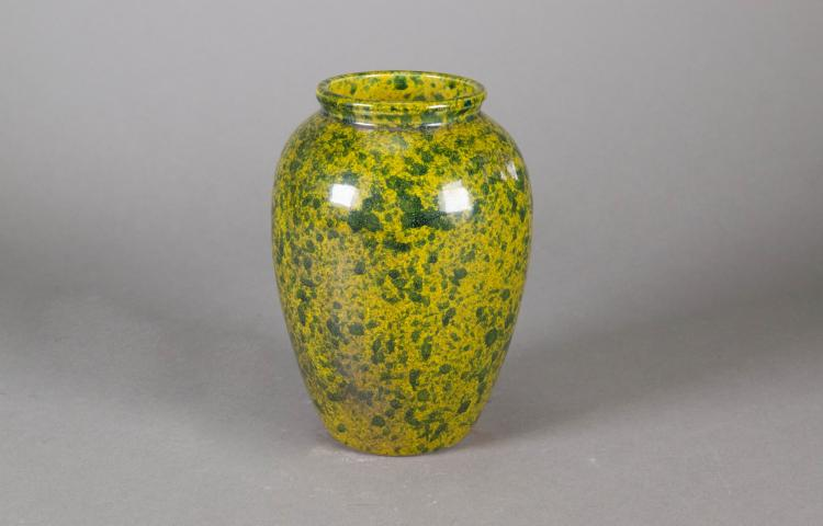 Chinese Spinach Green Porcelain Vase