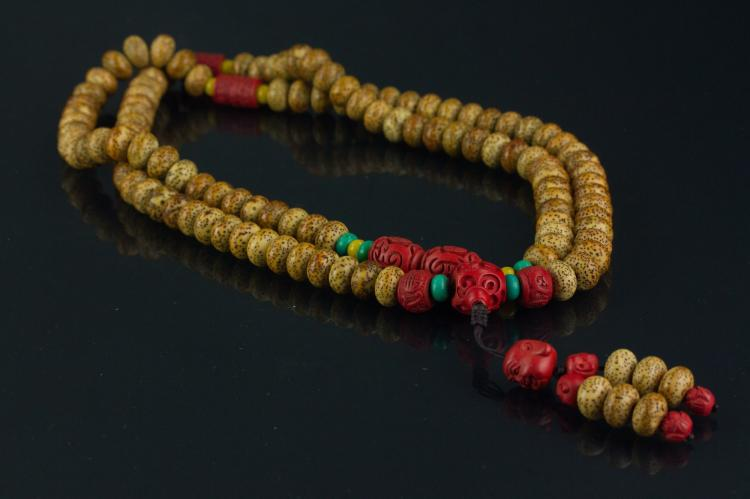Chinese Bodisu Prayers' Beads Necklace