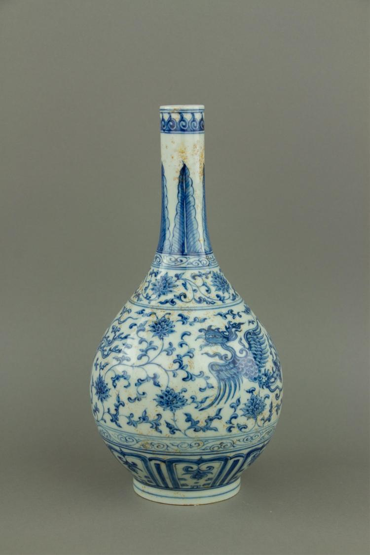 Chinese Blue and White Porcelain Vase Chenghua MK