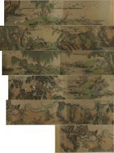 Chinese Long 100 Birds Silk Shen Quan 1682–1760