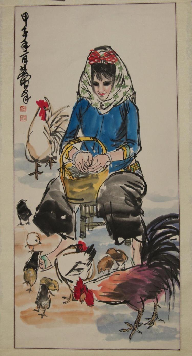 Farm Lady Signed & Sealed Wang Wei (699?759)