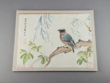 Set of 8 Bird Paintings Study of Zhang Daqian