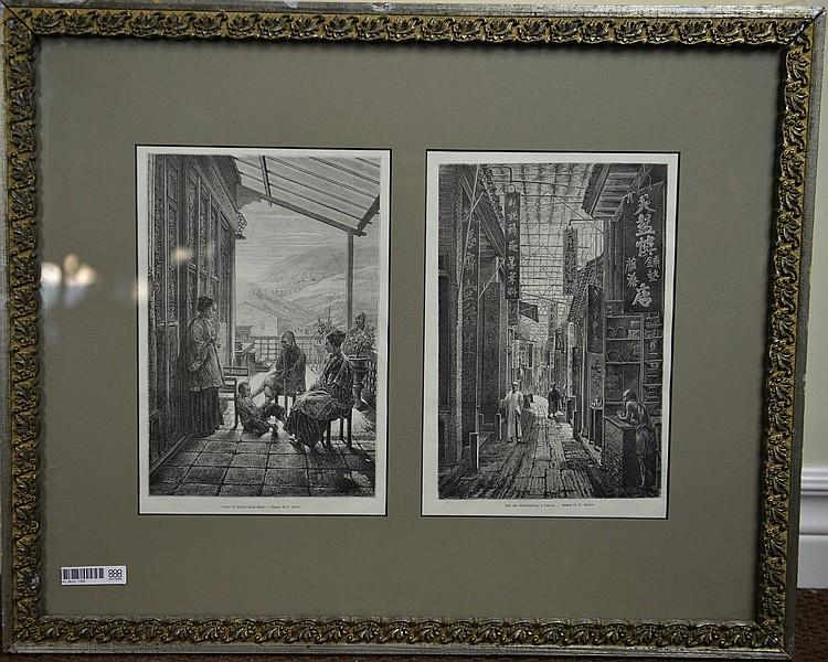 Two Rare Guangxu Original Prints of China 1875