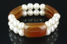 Pearl and Cameo Bracelet Retail $210