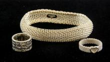3 Assorted Tiffany & CO Silver Bracelet and Rings