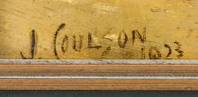 Lot 50: John Coulson British XX Oil on Board Portrait