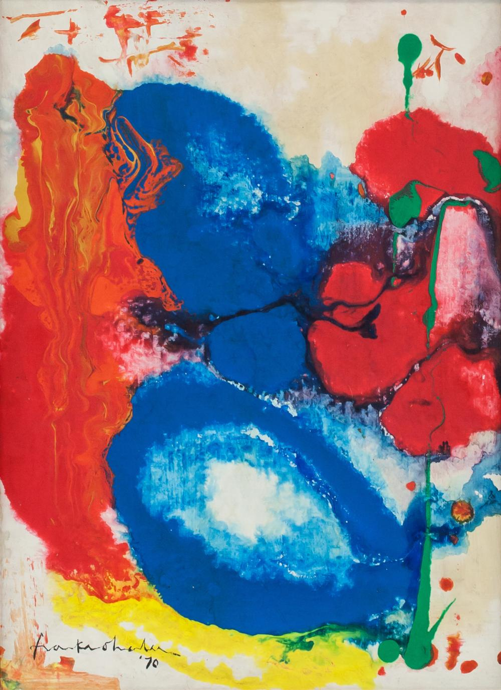 Helen Frankethaler American Abstract Oil on Canvas
