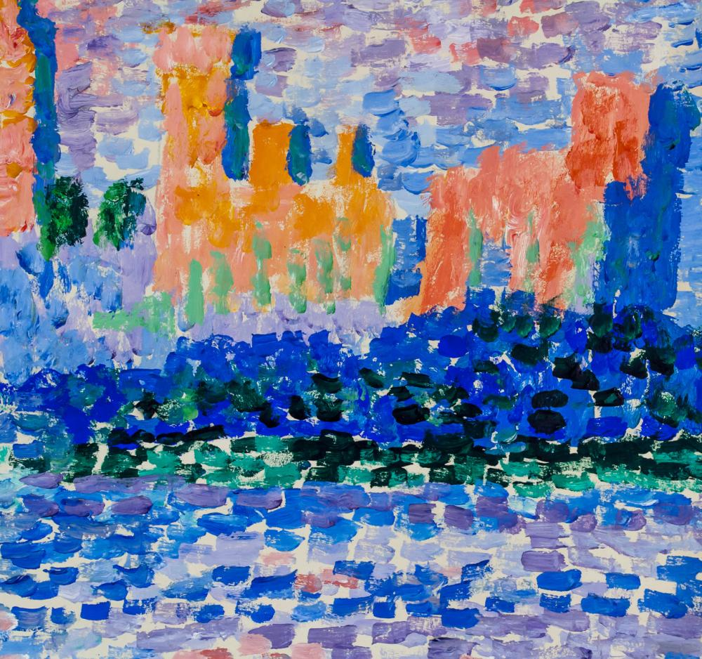 Lot 2: Paul Signac French Neo-Impressionist Oil on Paper