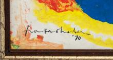 Lot 4: Helen Frankethaler American Abstract Oil on Canvas