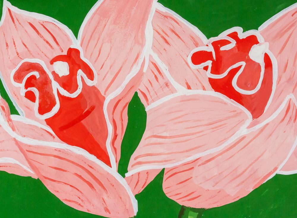 Lot 8: Alex Katz American Pop Art Acrylic on Paper