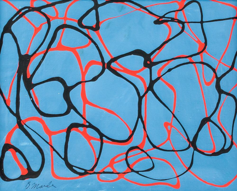 Lot 7: Brice Marden American Modernist Oil on Canvas