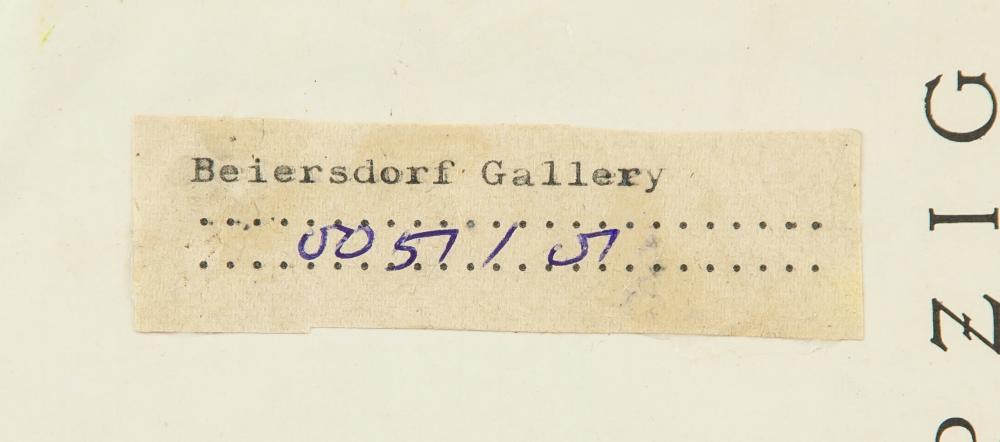 Lot 9: Edvard Munch Norwegian Expressionist Oil on Board