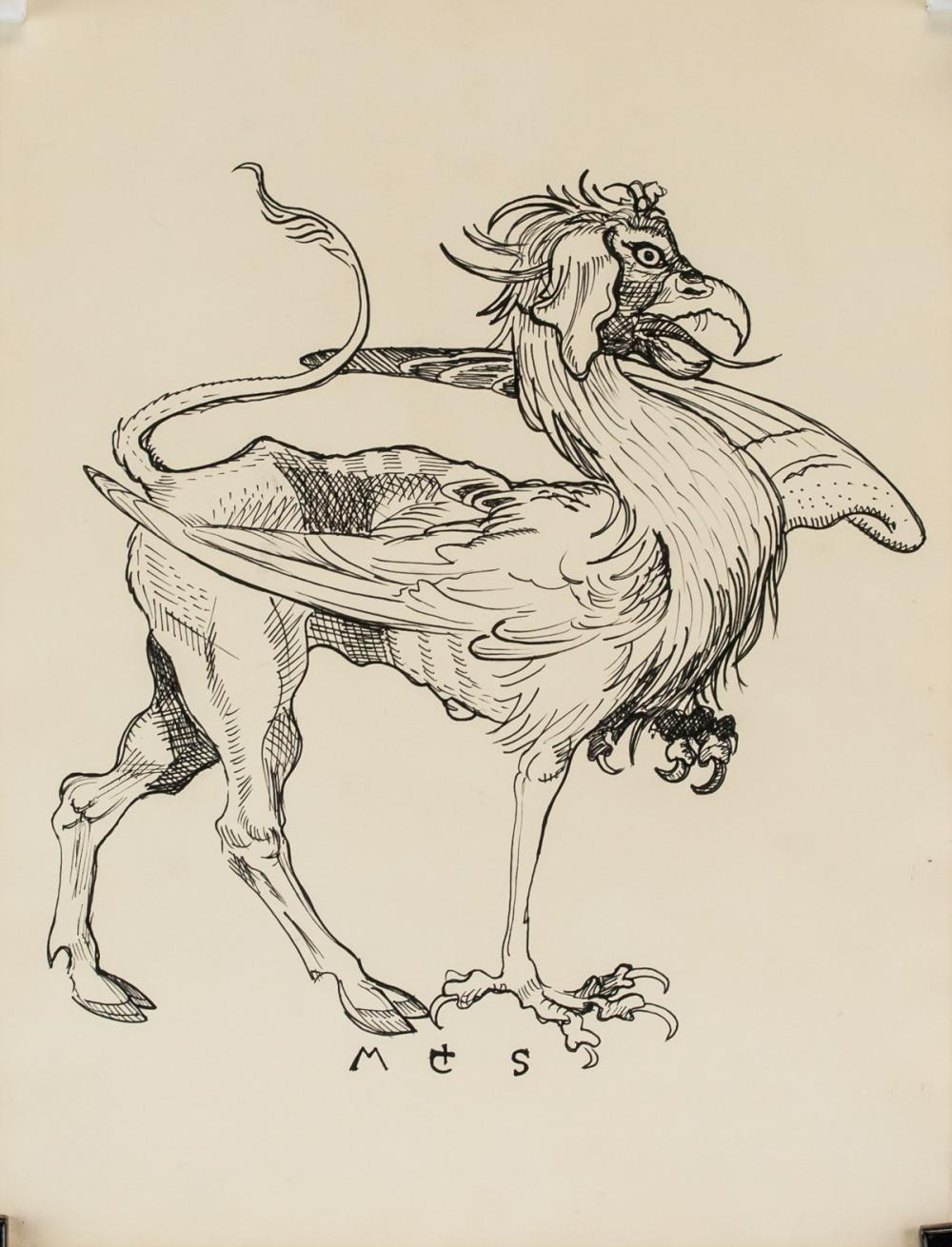 Lot 11: Martin Schongauer German Renaissance Ink on Paper