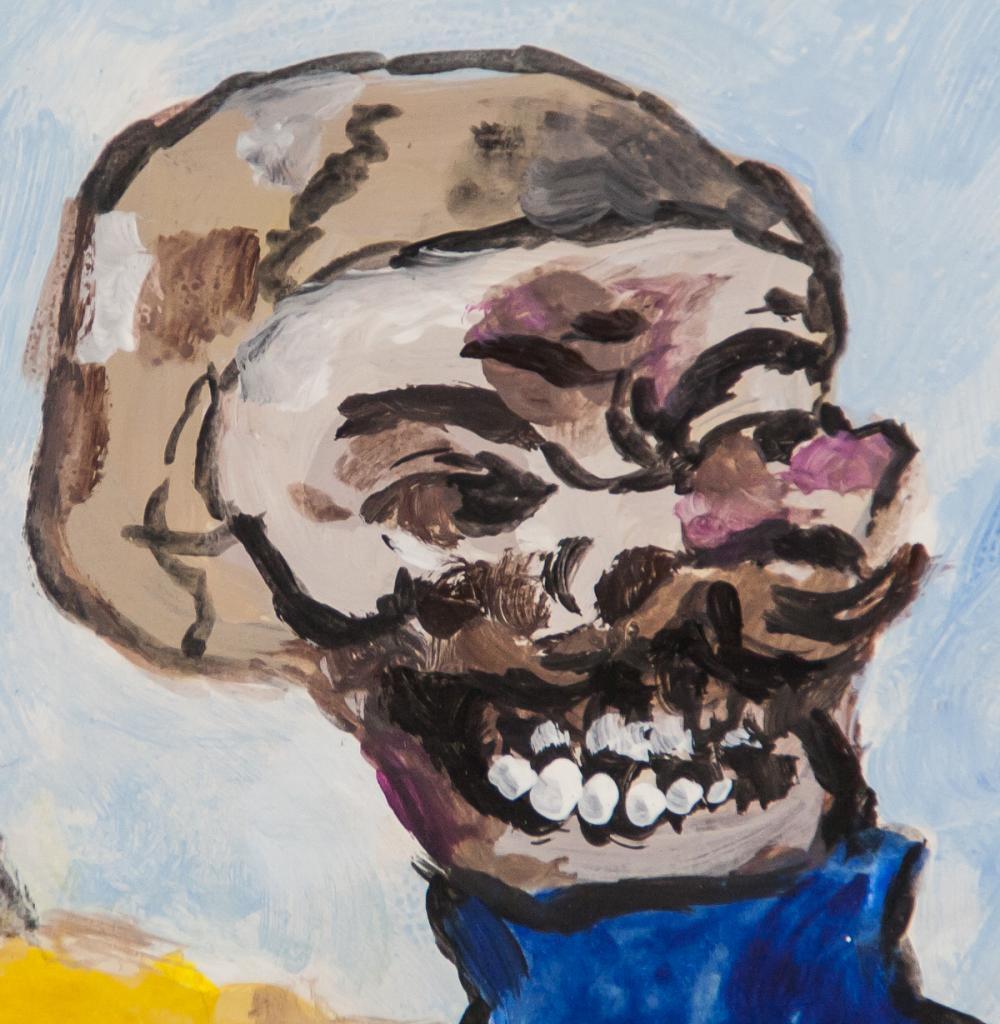 Lot 15: James Ensor Belgian Expressionist Gouache on Paper