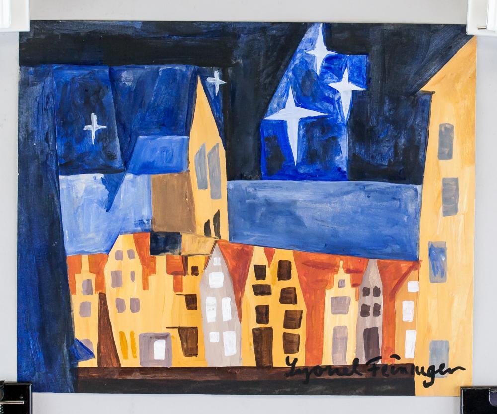 Lot 19: Lyonel Feininger German-US Expressionist Gouche