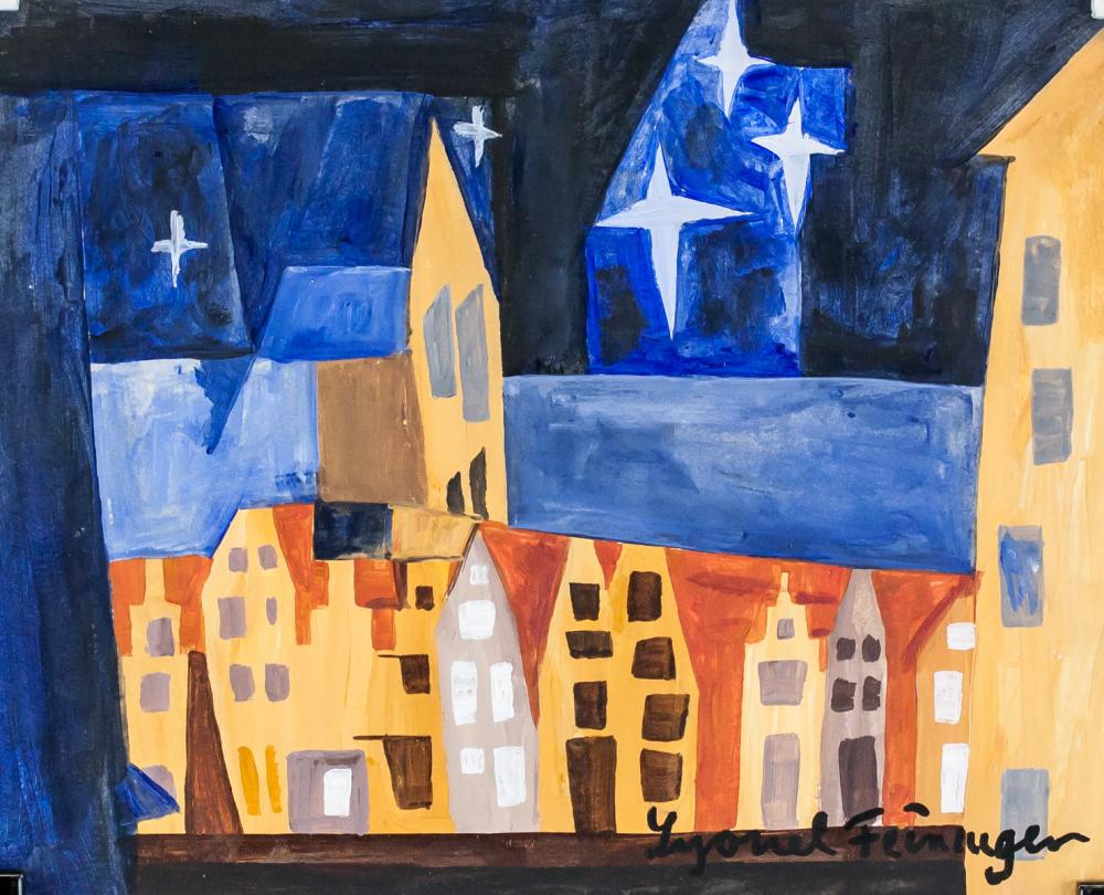Lyonel Feininger German-US Expressionist Gouche