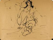 Lot 25: Harold Barling Town Canadian Acrylic Sketch