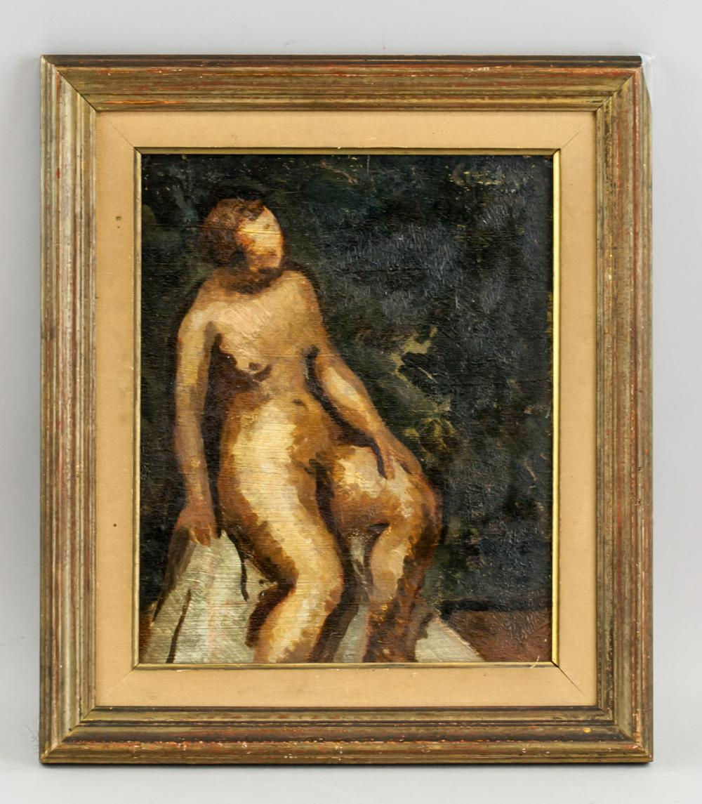 Lot 29: Paul Colin French Cubist Oil on Canvas Nude 1952