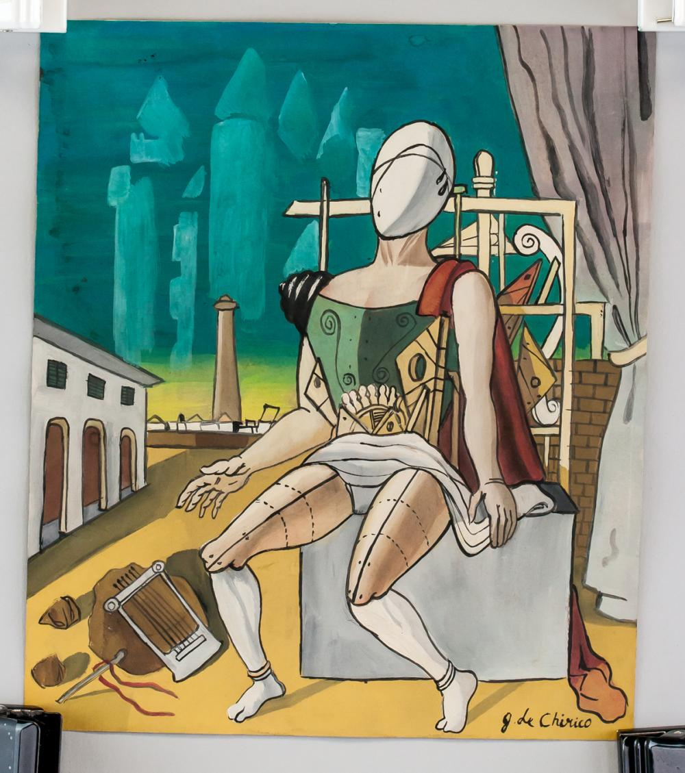 Lot 28: Giorgio de Chirico Italian Surrealist Gouache