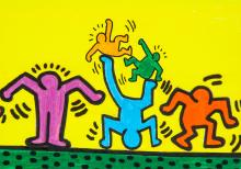 Lot 34: Keith Haring American Pop Mixed Media on Paper
