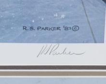 "Lot 37: Ron Parker ""Winter's Storm"" Signed Litho 705/950"