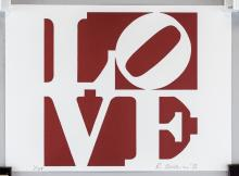 Lot 40: Robert Indiana American Pop Signed Litho 1/155