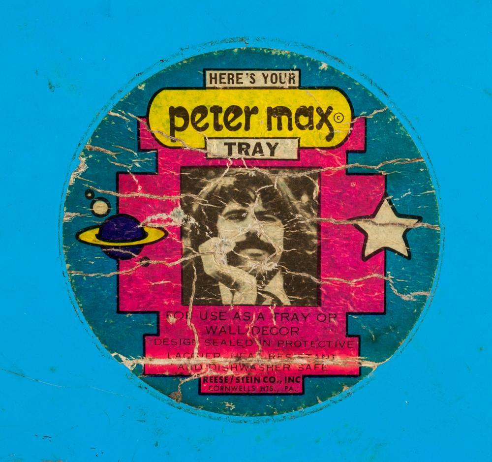 Lot 38: Peter Max German-American Pop Painted Tray
