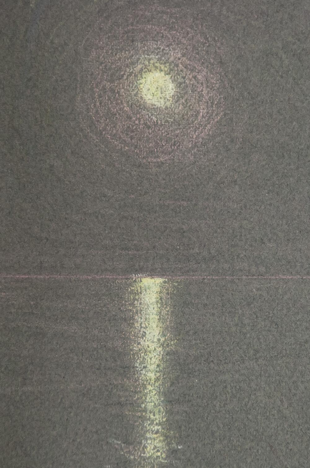 Lot 48: G. Gentile Italian Color Pencil on Paper Night