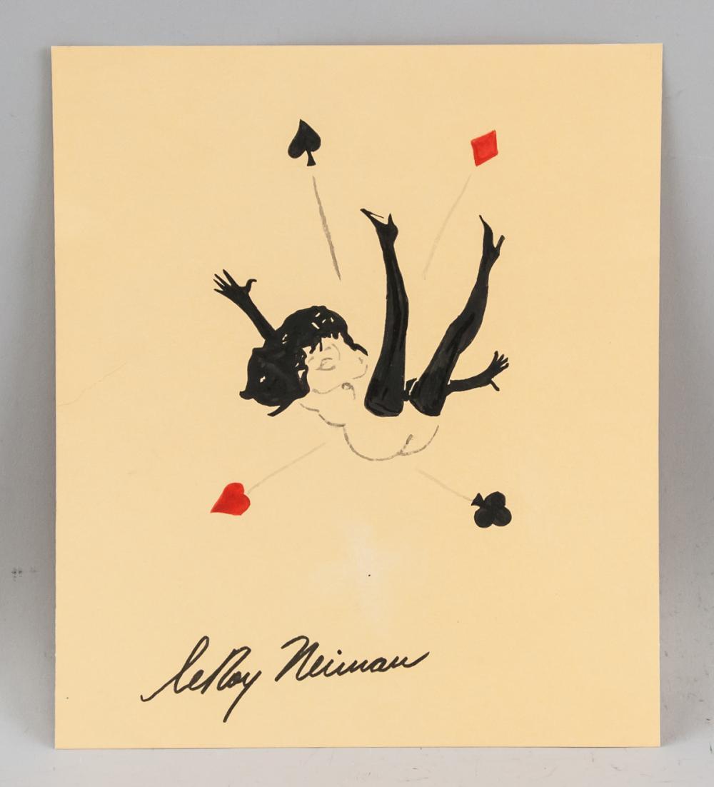 Lot 100: LeRoy Neiman American Pop Art Ink on Paper