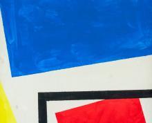 Lot 58: Theo Van Doesburg Dutch De Stijl Oil on Canvas
