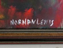 Lot 61: Norman Lewis American Abstract Oil on Canvas