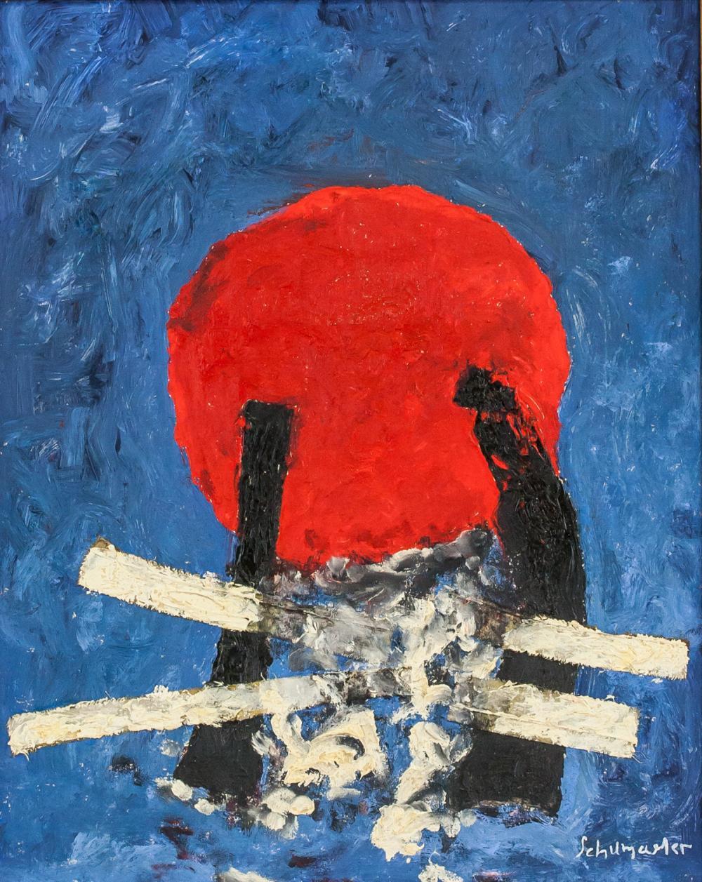 Emil Schumacher German Abstract Oil on Canvas