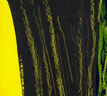 Lot 63: Hans Hartung French-German Modernist Oil on Canvas