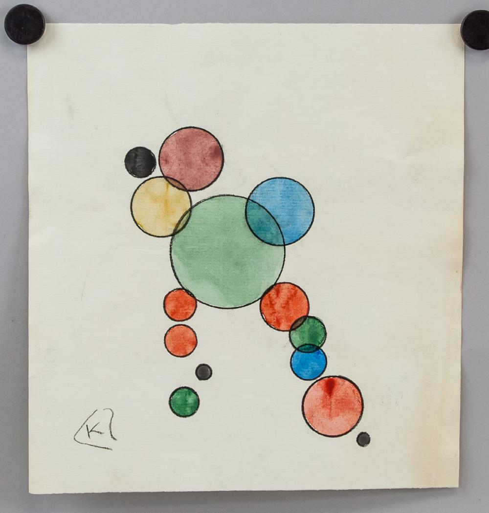 Lot 69: Wassily Kandinsky Russian Modernist Ink & WC