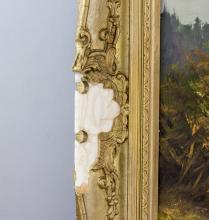 Lot 70: Wohl Rene Leidner German Oil on Canvas Landscape