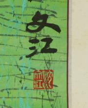 Lot 72: Shen Wenjiang b.1941 Chinese Watercolor Paper Roll