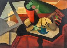 Lot 73: Jean Metzinger French Cubist Oil on Canvas